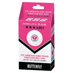 12849 - Butterfly 3-Star A40+ Ball - 6 Pack