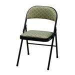 3742 - Folding Chair  Black Lace with Zuni Fabric