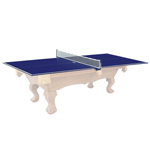 10367 - Kettler Blue Table Tennis Conversion Top for 4' x 8' Pool Tables