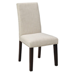10188 - Scarpa Stud Chair - Natural Linen