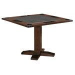12534 - Rustic 43'' 2 in 1 Game Table - Whiskey Barrel and Smoke Finish