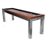 10197 - La Condo 12ft Shuffleboard Table - Stainless Steel