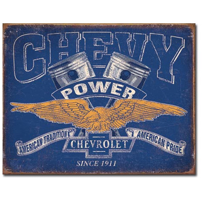 160213-Chevy Power Tin Sign