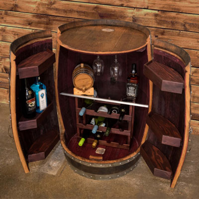 F G Bradley S Novelties Wine Barrel Liquor Cabinet
