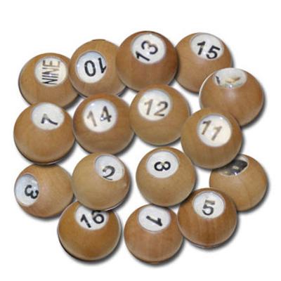 F G Bradley S Billiard Games Wooden Pea Pool Tally