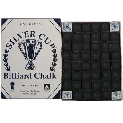 200245-Cue Chalk Silver Cup Black 144 Piece