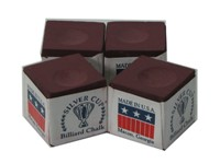 220037-Cue Chalk Silver Cup Burgundy (4 pack)