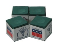 220072-Cue Chalk Silver Cup Green (4 pack)