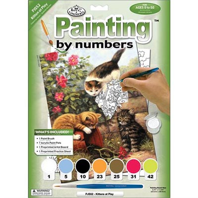 333606-Kittens At Play Paint by Numbers Set (PJS52)