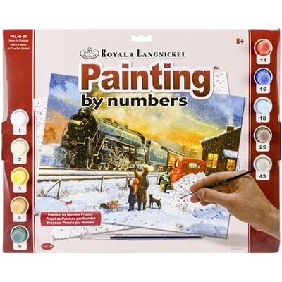 323626-Home for Christmas Paint by Numbers Set (PAL40)