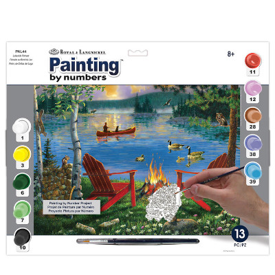 333630-Lakeside Retreat Paint by Numbers Set (PAL44)