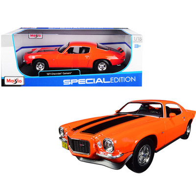 373232-1971 CHEVY CAMARO ORANGE 1/18 DIECAST