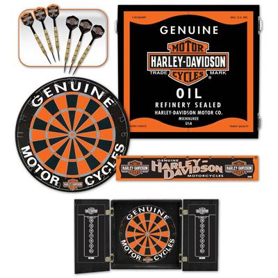 Captivating 510070 Harley Davidson Oil Can Darts Kit