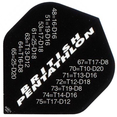 580059-British Pentathlon Flights - Outchart White on Black