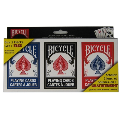 600520-Bicycle Playing Cards 3 Deck Value Pack