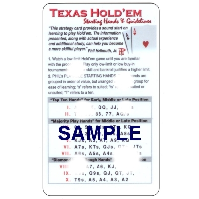 no limit texas holdem strategy guide