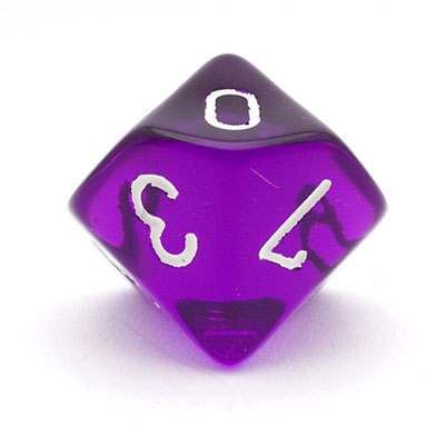 630213-10 Sided Transparent 0 - 9 Dice