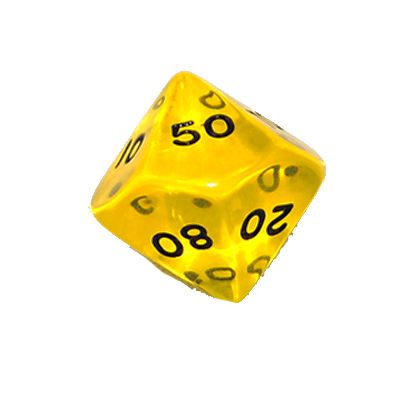 630216-10 Sided Transparent 00-90 Dice