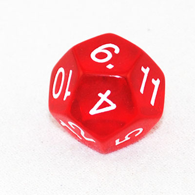 630219-12 Sided Transparent Dice