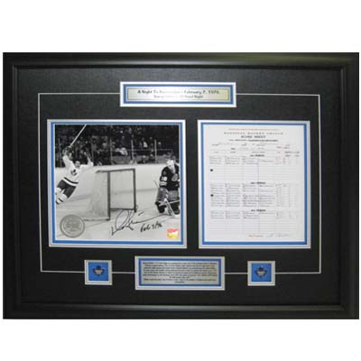 650019-Darryl Sittler Signed 10 Point Night Scoresheet