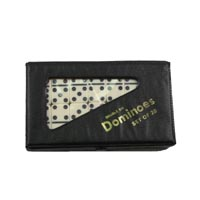 700653-Double 6 Small Ivory Dominoes in Vinyl Case