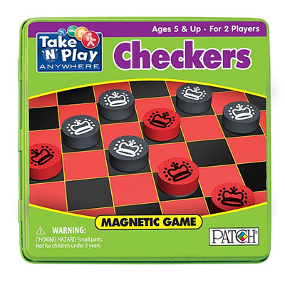 750071-Magnetic Game Tin - Checkers