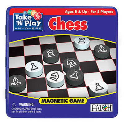 750072-Magnetic Game Tin - Chess