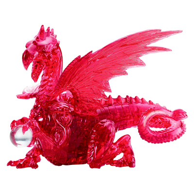760147-3D Deluxe Crystal Puzzler Red Dragon