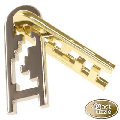 760197-Hanayama Cast Iron Puzzler ''Keyhole'' Level 4
