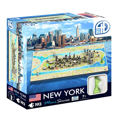770092-4D Mini Cityscape Puzzle, New York