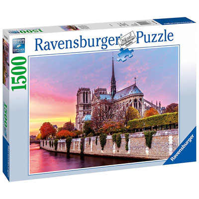 770144-Ravensburger Picturesque Notre Dame Puzzle (1500-Piece)
