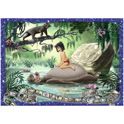 770153-Disney Jungle Book Collector's Edition 1000 Piece Jigsaw Puzzle