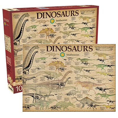 770550-Aquarius Smithsonian Dinosaurs - 1000 Pc Puzzle