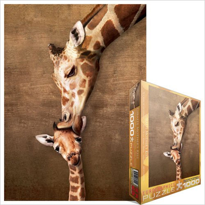 771728-Eurographics Animal Life: Giraffe Mother's Kiss - 1000 piece puzzle (6000-0301)