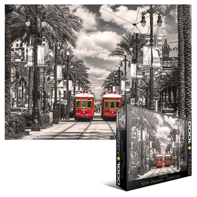 771838-Eurographics City Collection: New Orleans Streetcars - 1000pc Puzzle