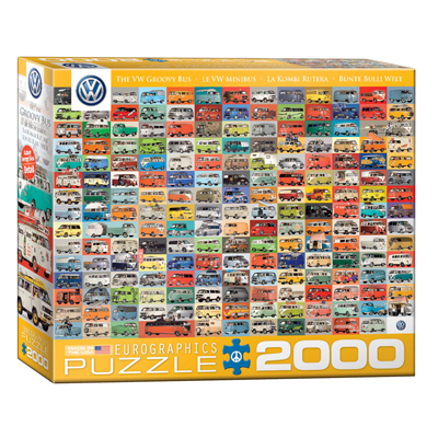 771894-EuroGraphics Big Puzzle Collection: The VW Groovy Bus 2000-Piece Puzzle