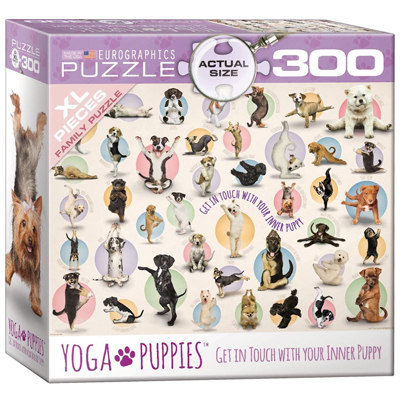 771943-EuroGraphics Yoga Puppies 300 XL Pc Puzzle (8300-0992)