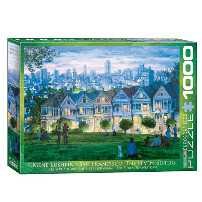 771956-Eurographics Artist Series: San Francisco, The Seven Sisters , by Lushpin - 1000 pc Puzzle (6000-0958)