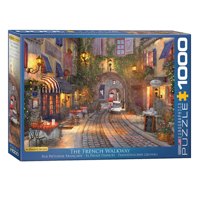771959-EuroGraphics Artist Series: The French Walkway by Dominic Davison 1000-Piece Puzzle