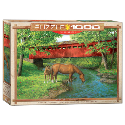 772010-Eurographics Artists Series: Sweet Water Bridge, by Weirs - 1000 Piece Puzzle