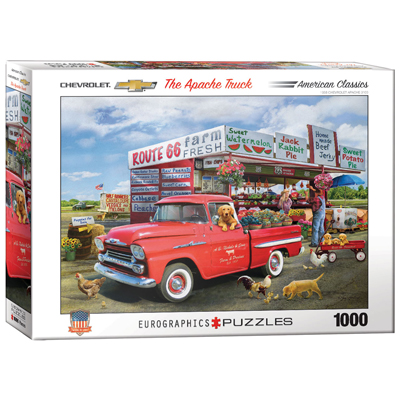 772022-Eurographics Artists Series: The Apache Truck, by Giordano - 1000 Piece Puzzle