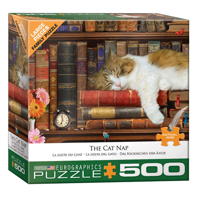 772082-Eurographics The Cat Nap 500 Large Pc Puzzle (8500-5000)