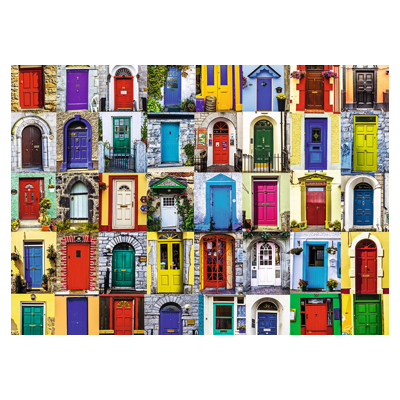 773171-Ravensburger Doors Of The World - 1000 Pc Puzzle