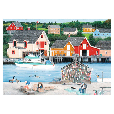 773185-Ravensburger Canadian Collection Fisherman's Cove - 1000 Pc Puzzle