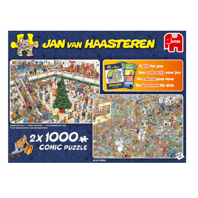 774247-Jan van Haasteren Holiday Shopping - 2 x 1000pc puzzles (19098)