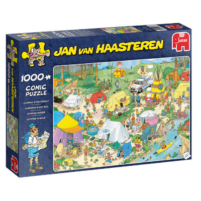 775750-Jan van Haasteren Camping in the Forest - 1000pc Puzzle (19086)