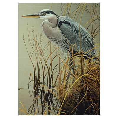775842-CH Great Blue Heron 500 Piece Puzzle