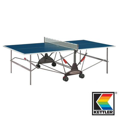 840006-Kettler Stockholm Outdoor Table Tennis / Ping Pong Table Blue