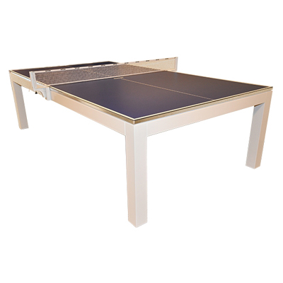 840060-La Condo Table Tennis Table - iTech White Gloss Finish